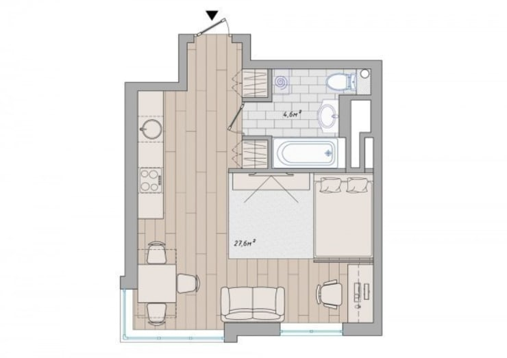 Дизайн проект квартиры от проекта до реализации:  в современный. Автор – Cтудия 'ART Story', Модерн