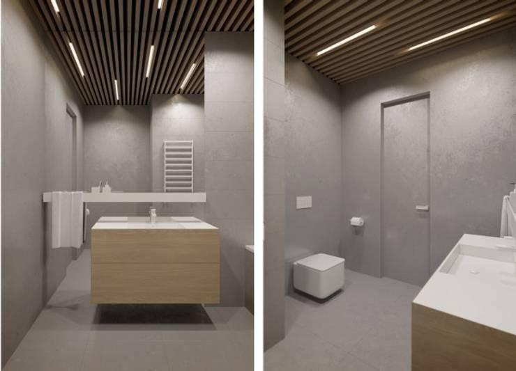 Дизайн проект квартиры от проекта до реализации: Ванные комнаты в . Автор – Cтудия 'ART Story', Модерн