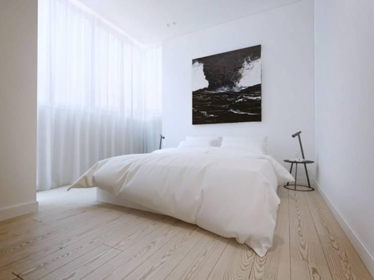 Дизайн проект квартиры от проекта до реализации: Спальни в . Автор – Cтудия 'ART Story', Модерн