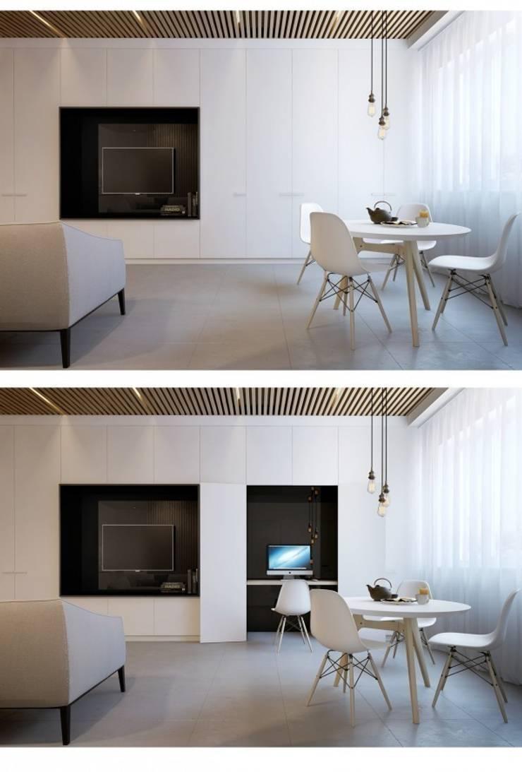 Дизайн проект квартиры от проекта до реализации: Гостиная в . Автор – Cтудия 'ART Story', Модерн