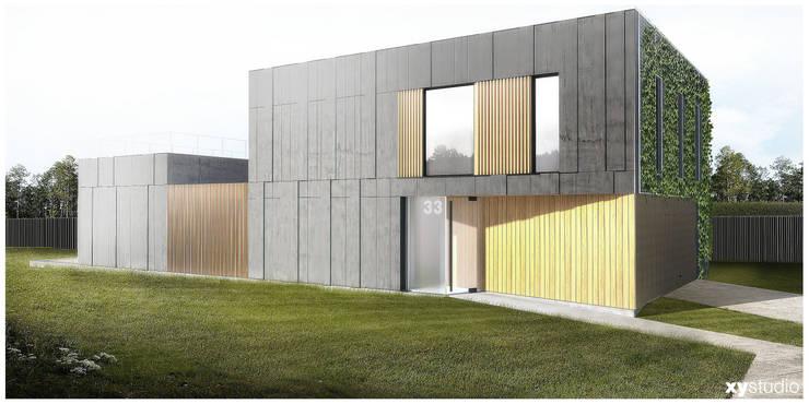 Dom Jednorodzinny - Wiązowna: styl , w kategorii Domy zaprojektowany przez xystudio