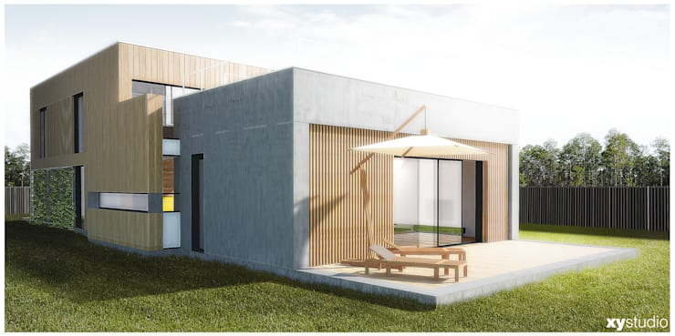 Dom Jednorodzinny – Wiązowna: styl , w kategorii Domy zaprojektowany przez xystudio