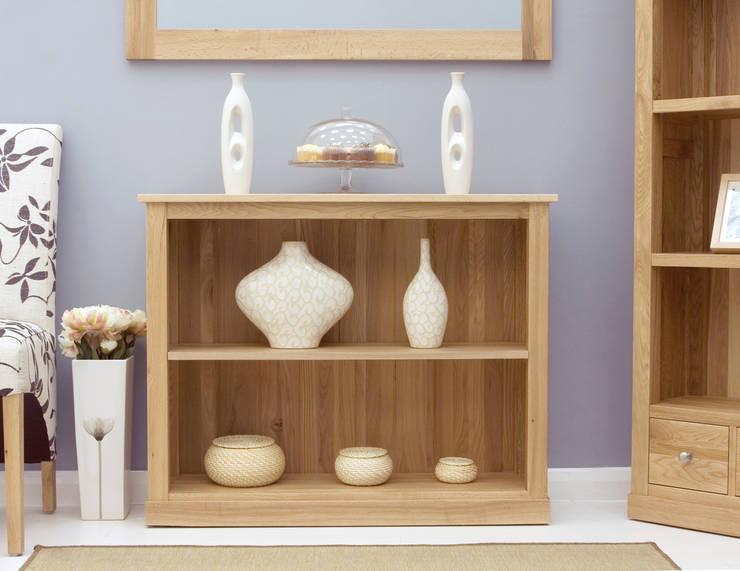 small oak bookcase living room by big blu furniture