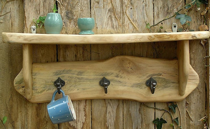 Sycamore Shelf : rustic Kitchen by Seagirl and Magpie