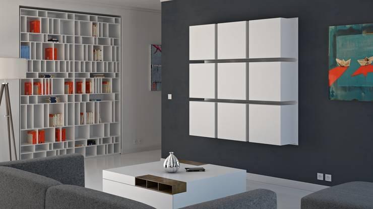 Pomysł na regał we wnętrzu od Metaform: styl , w kategorii Salon zaprojektowany przez Le Pukka Concept Store