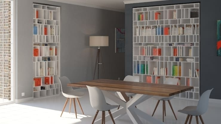 Pomysł na regał we wnętrzu od Metaform: styl , w kategorii Jadalnia zaprojektowany przez Le Pukka Concept Store