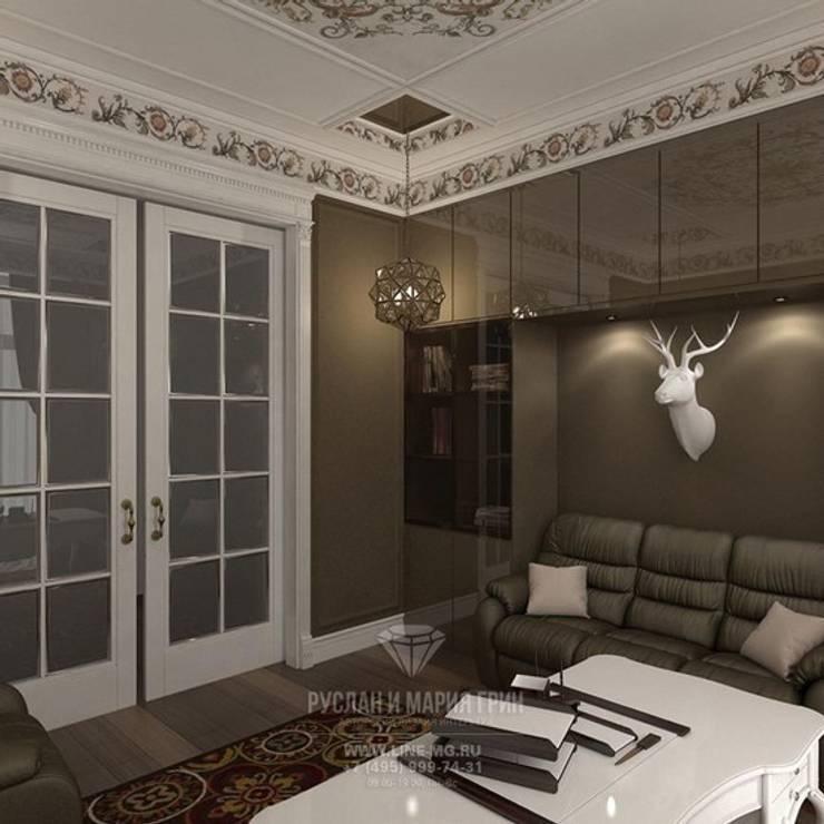 Кабинет: Рабочие кабинеты в . Автор – Студия дизайна интерьера Руслана и Марии Грин