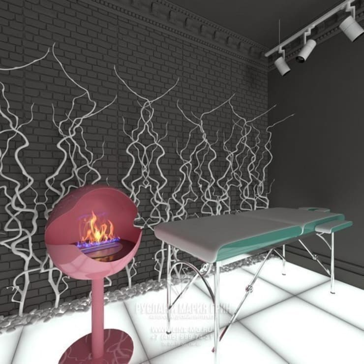 Кабинет массажа в салоне красоты Lipstick: Офисы и магазины в . Автор – Студия дизайна интерьера Руслана и Марии Грин