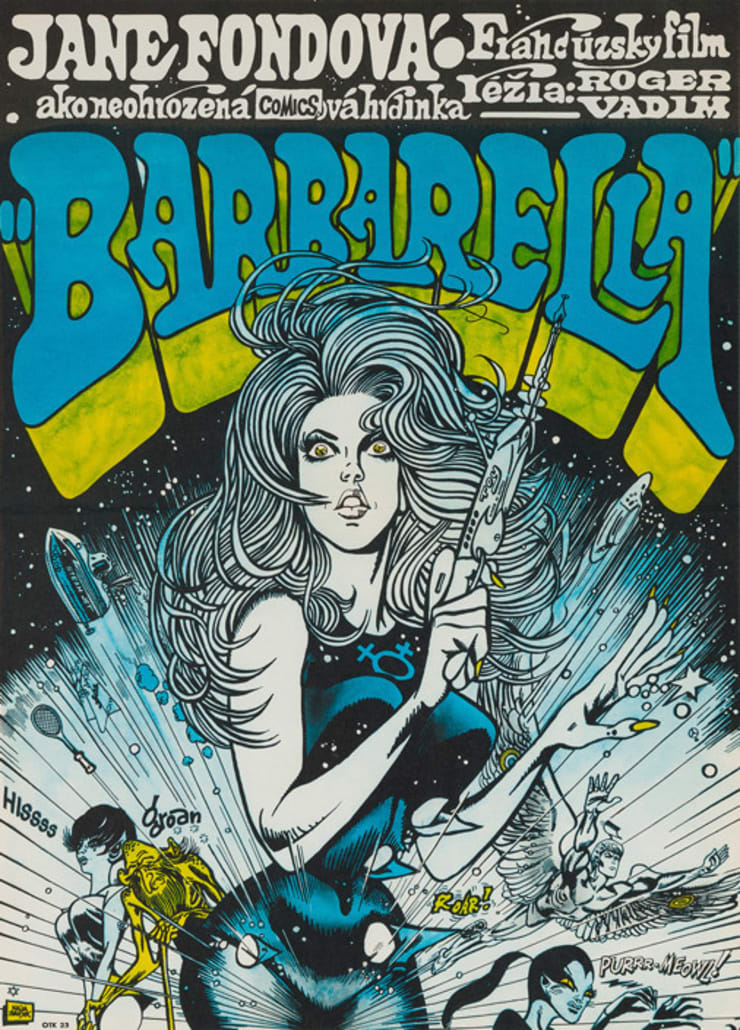 Barbarella 1961 Czech Film Poster: eclectic  by Orson & Welles, Eclectic
