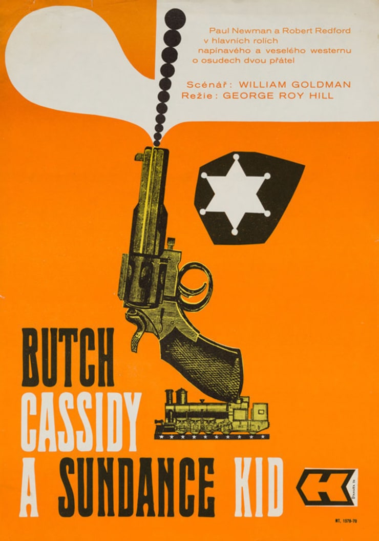 Butch Cassidy and the Sundance Kid 1970 Czech Film Poster: eclectic  by Orson & Welles, Eclectic