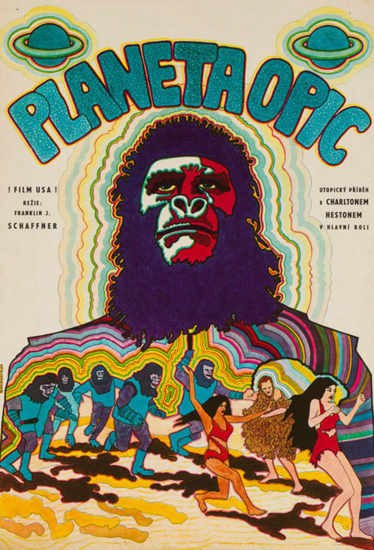 Planet of the Apes 1970 Czech Film Poster: eclectic  by Orson & Welles, Eclectic