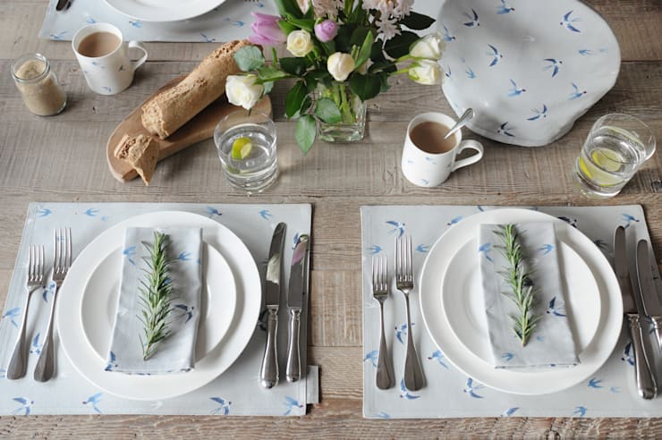 Swallow collection of homewares: country Dining room by Sophie Allport