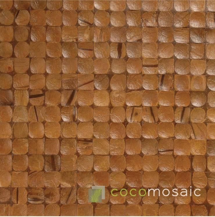 Cocomosaic | Antique Brown:  Muren & vloeren door Nature at home | Cocomosaic | Wood4Walls