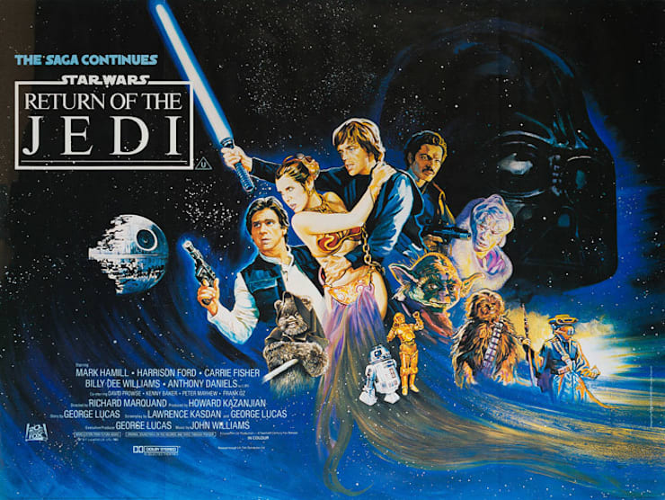 The Return of the Jedi 1983 British Film poster: eclectic  by Orson & Welles, Eclectic