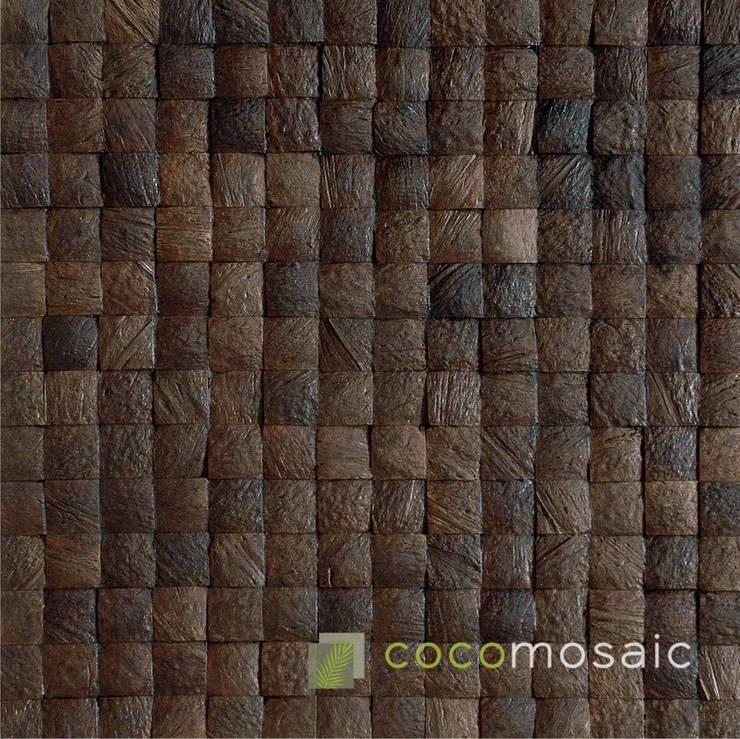 Cocomosaic | Espresso Grain:  Muren & vloeren door Nature at home | Cocomosaic | Wood4Walls