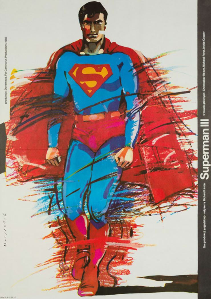 Superman 3 1983 Polish Film Poster: eclectic  by Orson & Welles, Eclectic