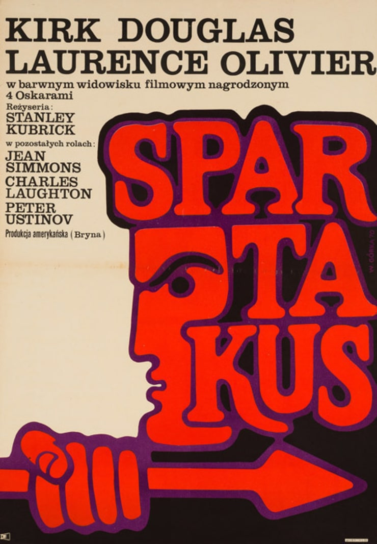 Spartacus 1970 Polish Film Poster: eclectic  by Orson & Welles, Eclectic