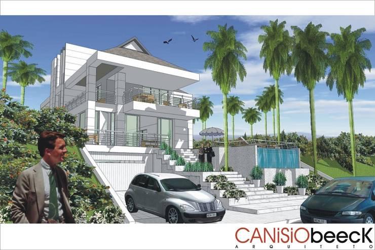 A5 Residência: Casas  por Canisio Beeck Arquiteto