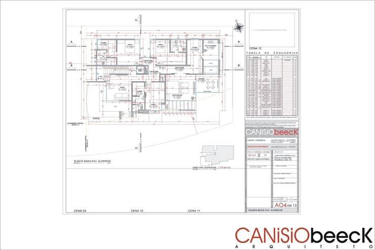 A7 Residência: Casas  por Canisio Beeck Arquiteto,Moderno