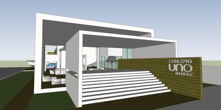 A11 Residência: Casas  por Canisio Beeck Arquiteto