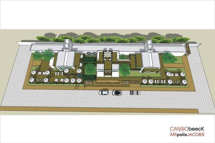 A12 Residência: Casas modernas por Canisio Beeck Arquiteto