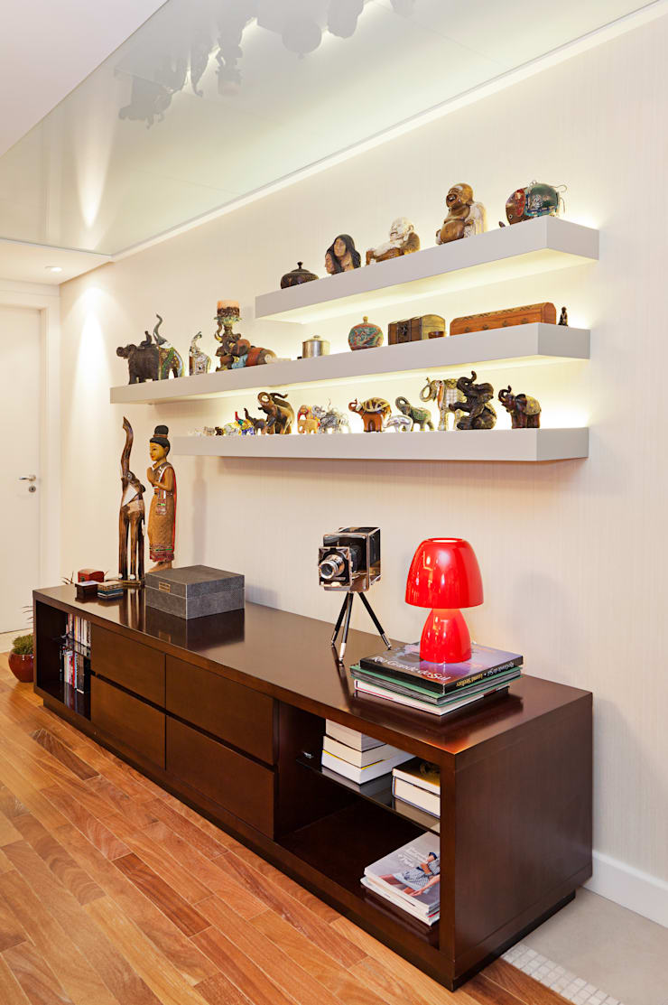 Apartamento Mont Serrat 2 - Porto Alegre - RS: Salas de estar  por Mundstock Arquitetura