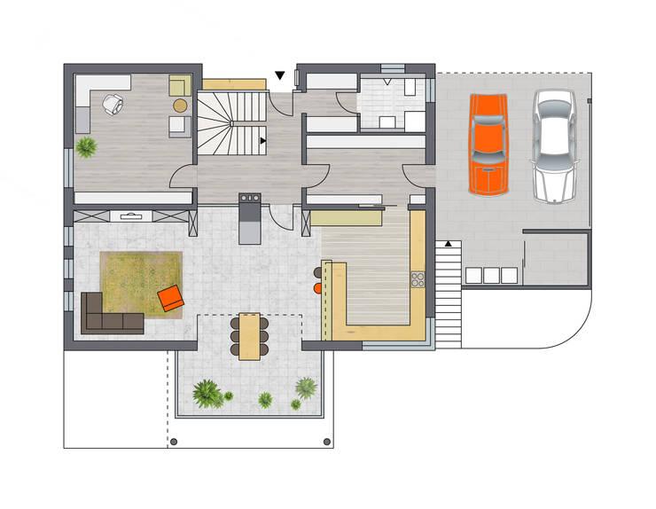 Erdgeschoss:   von Achtergarde + Welzel Architektur + Interior Design