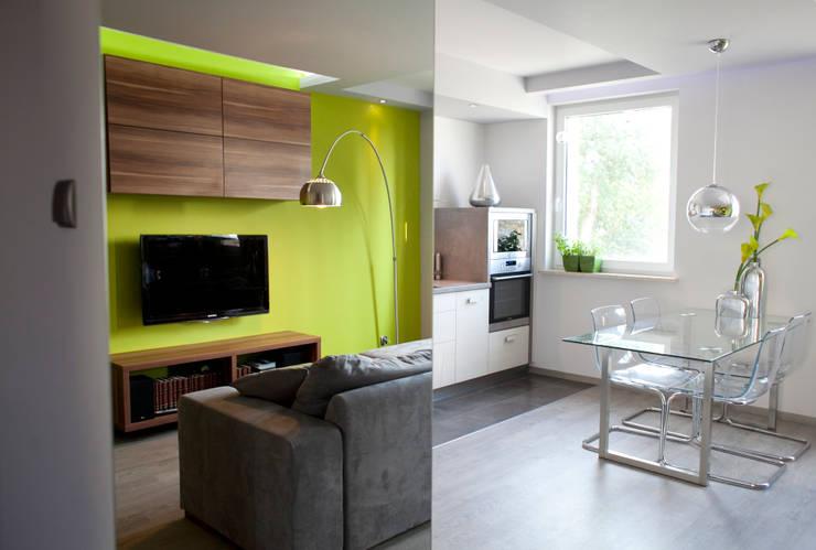 Nova: styl , w kategorii Salon zaprojektowany przez Arkadiusz Grzędzicki projektowanie wnętrz