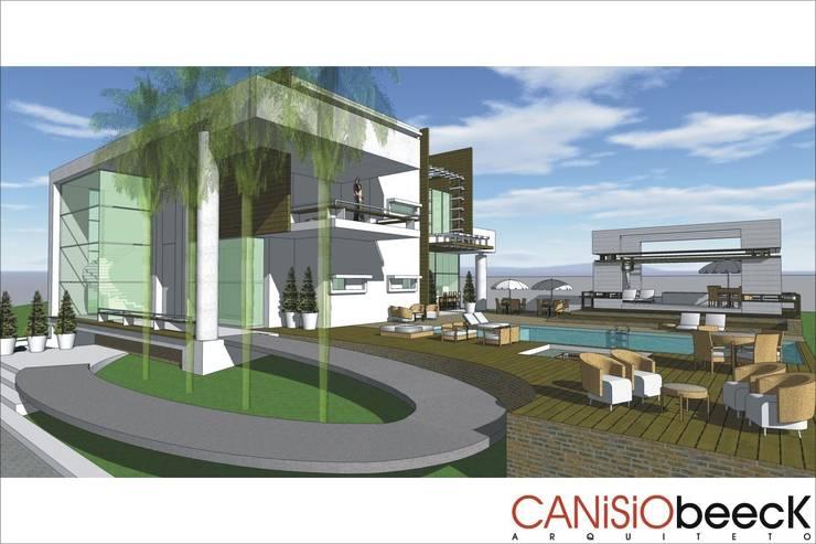 A14 Residência: Casas  por Canisio Beeck Arquiteto