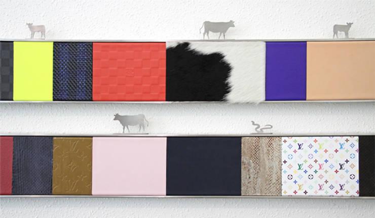Louis Vuitton Spain - panel táctil y visual de las pieles utilizadas. : Oficinas y Tiendas de estilo  de Daifuku Designs