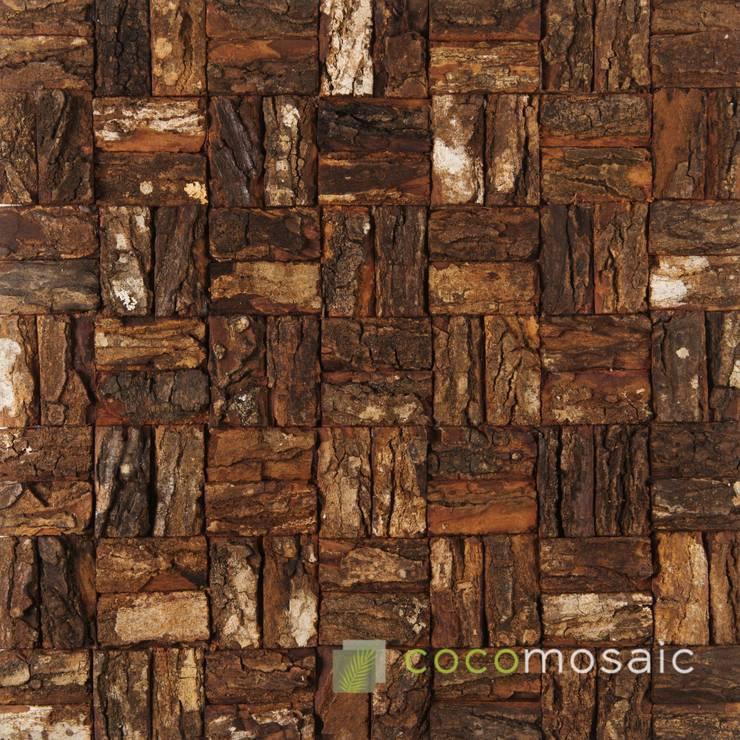 Cocomosaic | Wooden bark Large:  Muren & vloeren door Nature at home | Cocomosaic | Wood4Walls