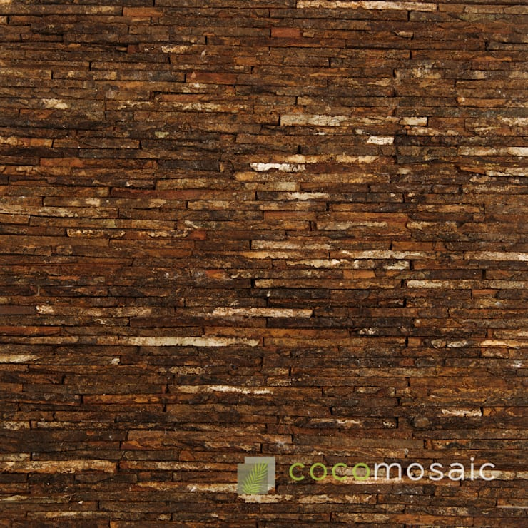 Cocomosaic | Wooden bark line:  Muren & vloeren door Nature at home | Cocomosaic | Wood4Walls