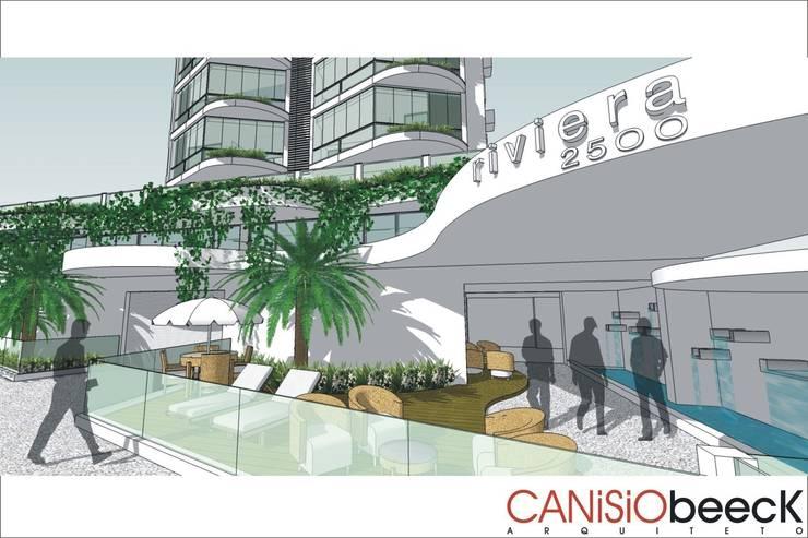 Edifício Riviera: Casas  por Canisio Beeck Arquiteto