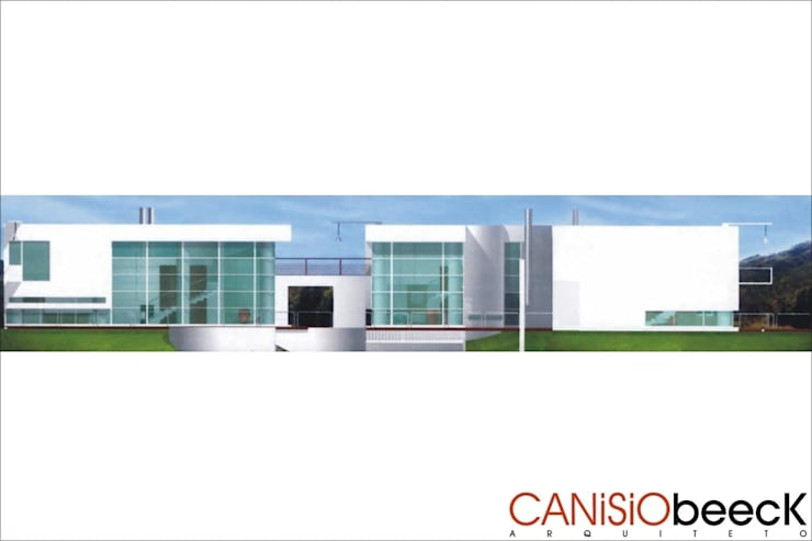 A16 Residência: Casas modernas por Canisio Beeck Arquiteto