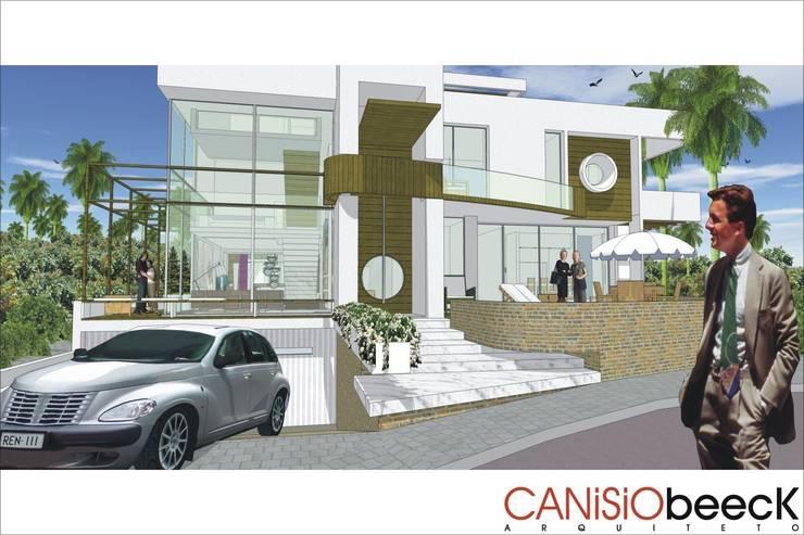 A22 Residência: Casas modernas por Canisio Beeck Arquiteto