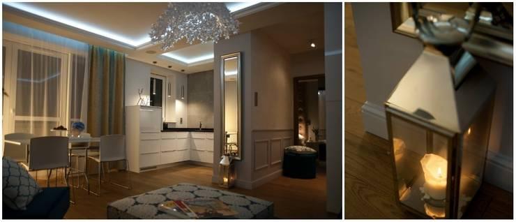 Francuska Kamienica: styl , w kategorii Korytarz, przedpokój zaprojektowany przez Arkadiusz Grzędzicki projektowanie wnętrz