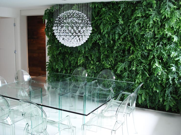 Salas de jantar  por Quadro Vivo Urban Garden Roof & Vertical