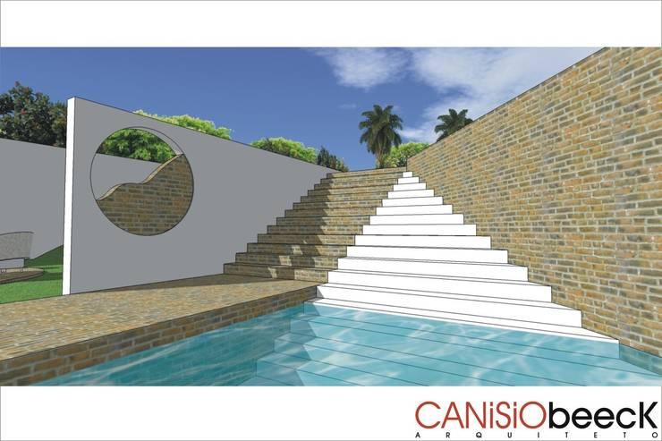 A27 Residência: Casas  por Canisio Beeck Arquiteto