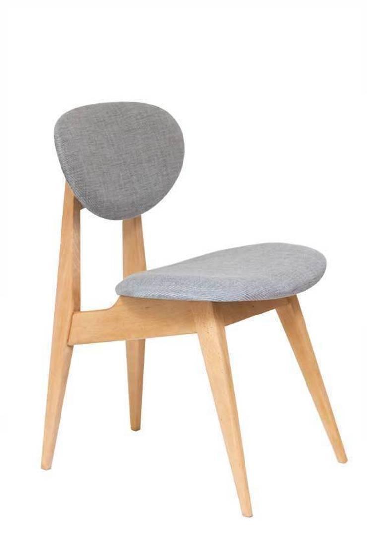 krzesło | szara perła: styl , w kategorii  zaprojektowany przez Magiel,Minimalistyczny