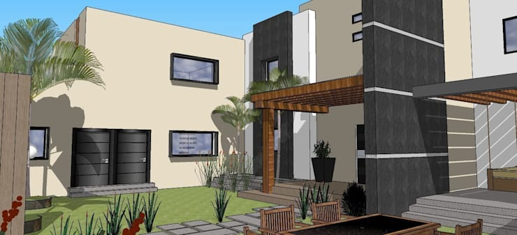 casa #195: Jardines de estilo  por Taller R arquitectura