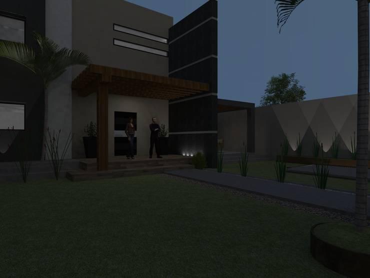 casa #195: Casas de estilo  por Taller R arquitectura