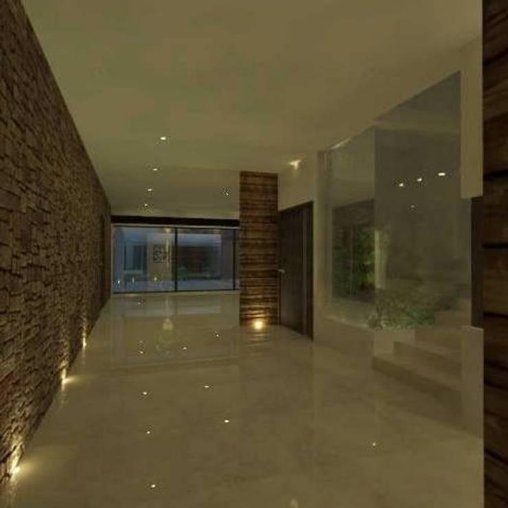 casa # 495: Pasillos y recibidores de estilo  por Taller R arquitectura