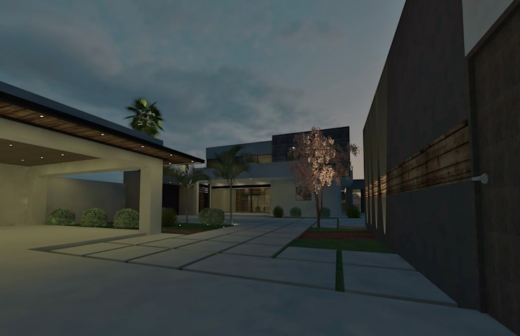 casa # 495: Casas de estilo  por Taller R arquitectura