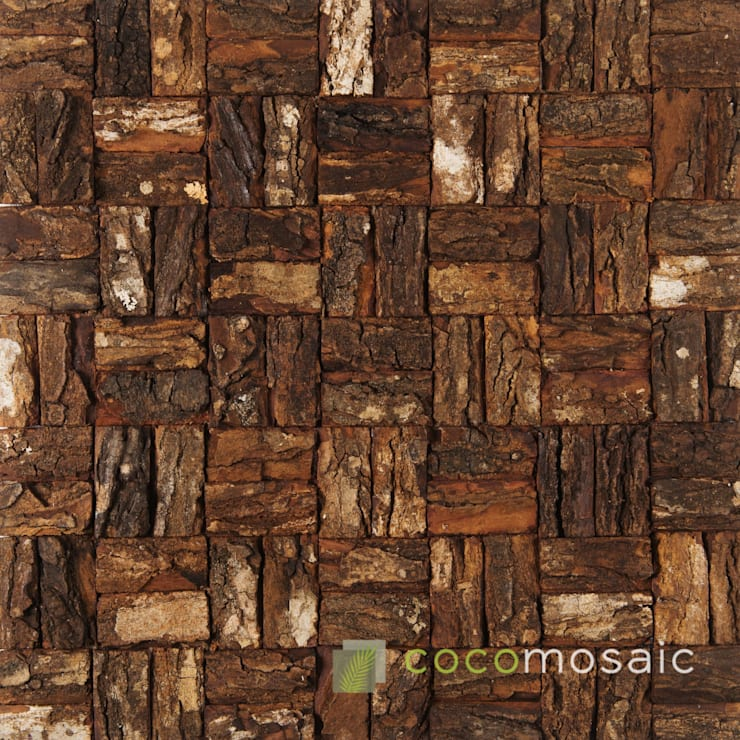 Cocomosaic | Wooden Bark Large: modern  door Nature at home | Cocomosaic | Wood4Walls, Modern