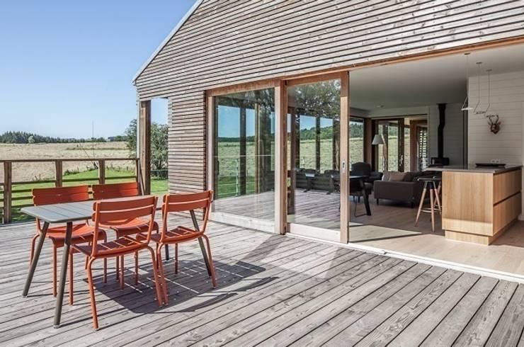 Terrasse von Pavillonchamps Atelier d'Architecture