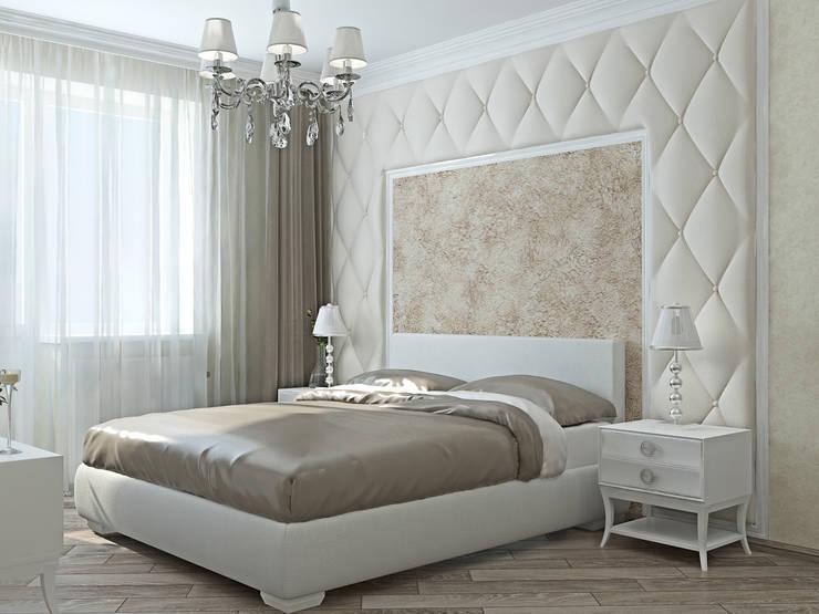 Спальня в молочных тонах: Спальни в . Автор – Kalista