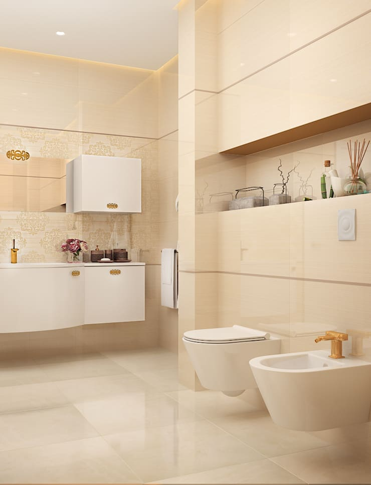 Biege: Ванные комнаты в . Автор – VITTA-GROUP