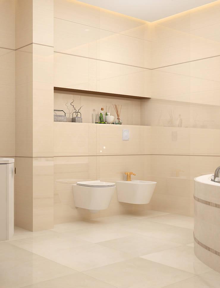 Ванная Biege: Ванные комнаты в . Автор – VITTA-GROUP