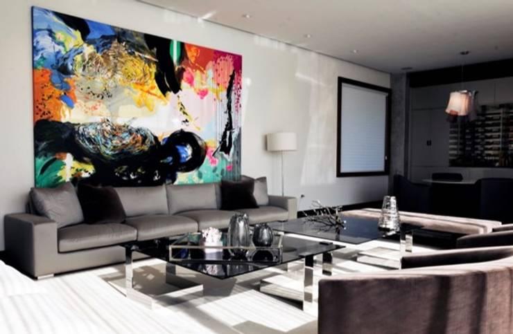 Residencia Las Calzadas: Salas de estilo  por BAO