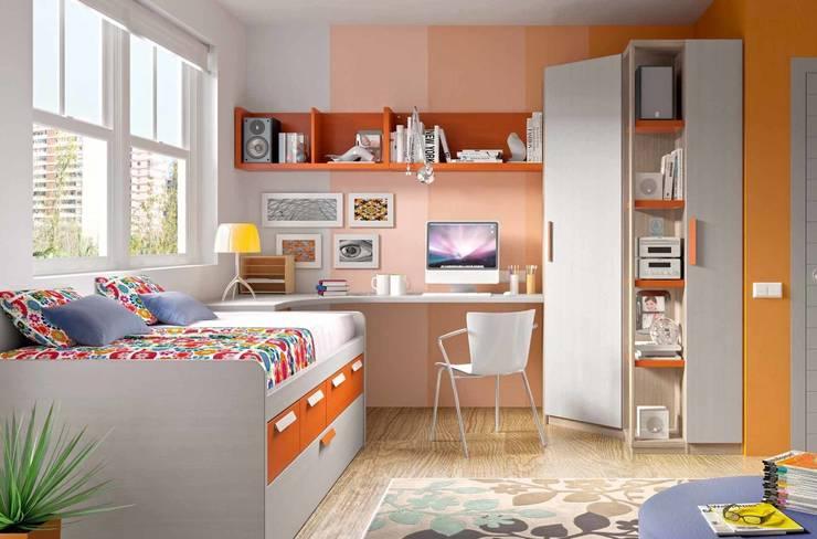 DORMITORIOS: Dormitorios infantiles de estilo  de CREA Y DECORA MUEBLES